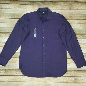 Rock & Republic Slim Fit Purple Dress Shirt 15 1/2